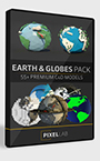 The Pixel Lab Earth and Globe Pack